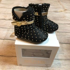 NWT Michael Kors Baby Grace Tiff Black Booties 3